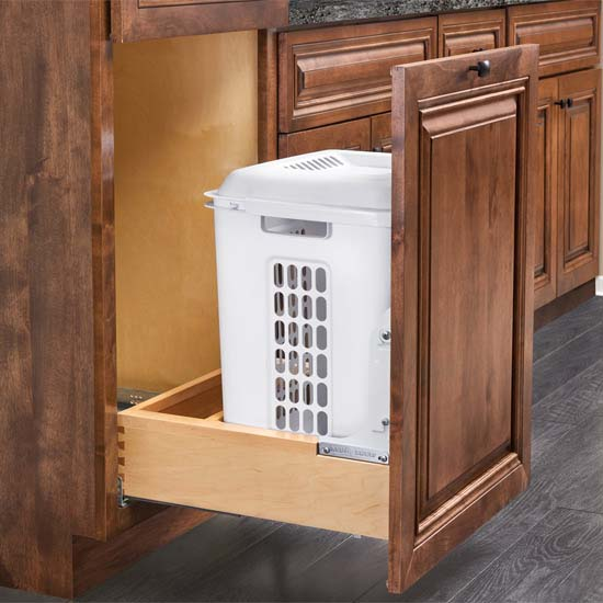 "Rev-A-Shelf Vanity Bottom Mount Hamper Pull-out for 24"" Face Frame Cabinet"
