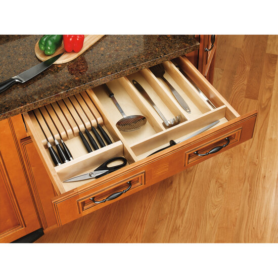 Kitchen Utensil Organizer Drawer Drawer organizers wood utensil tray drawer inserts for kitchen or view larger image workwithnaturefo