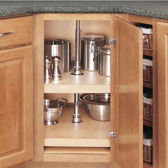"Rev-A-Shelf ''Wood Classic"" D-Shaped 2-Shelf and 3-Shelf ..."