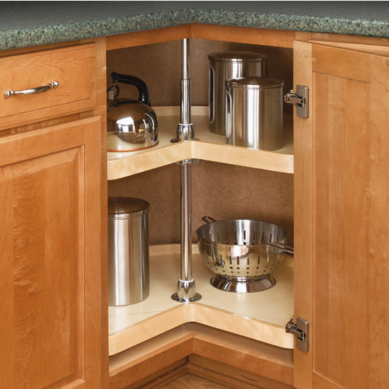 kitchen cabinets lazy susan corner cabinet rev a shelf wood classic quot kidney shaped independently 20715