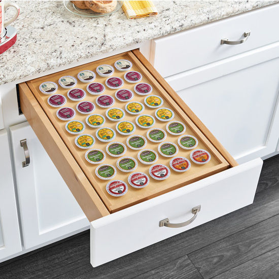Rev-A-Shelf Two-Tier Replacement Drawer Box with 40 count K-Cup Holder