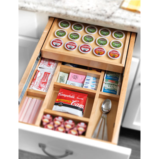 Replacement Drawer Slides >> Rev A Shelf Two-Tier Drawer Insert with K-Cup Holder ...