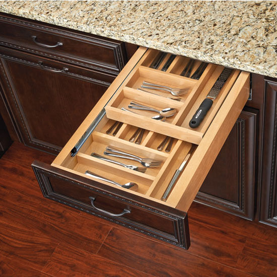 Two-Tiered Cutlery Drawer with Blumotion Soft-Close Slides