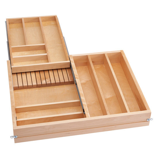 Empty Kitchen Cupboard: Utensil Storage, Tiered Double Combination Drawer For 30