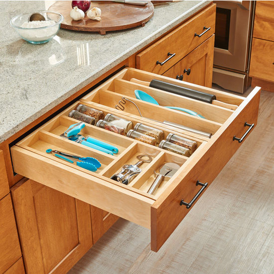 Rev-A-Shelf Tiered Double Combination Drawer & Utensil Storage Tiered Double Combination Drawer for 30