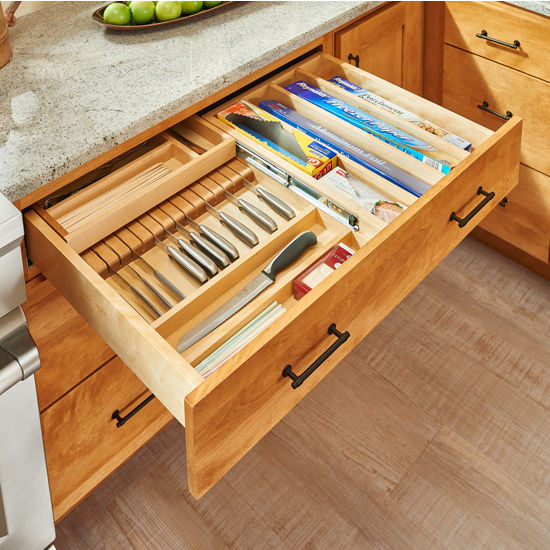 Cliqstudios Kitchen Cabinet Installation Guide Chapter: Utensil Storage, Tiered Double Combination Drawer For 30