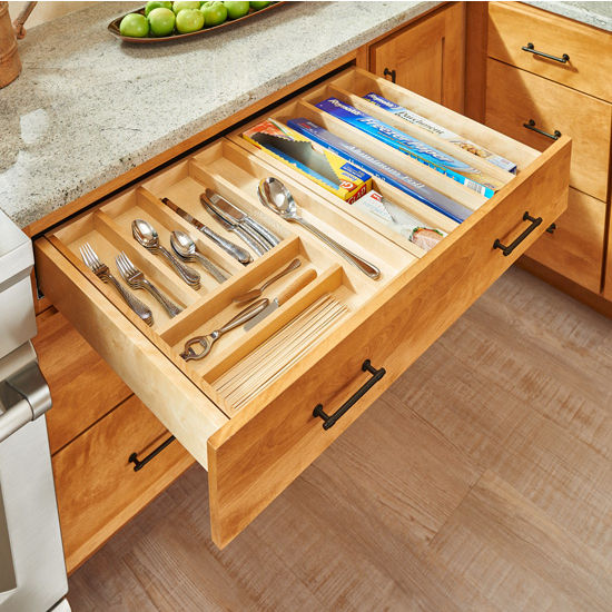 Utensil Storage Tiered Double Combination Drawer For 30