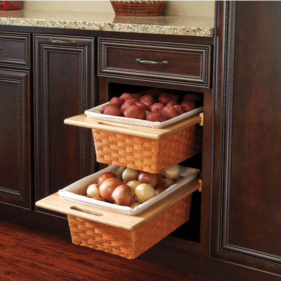 Baskets Above Kitchen Cabinets: Rev-A-Shelf Woven Basket With Rails In Standard Size