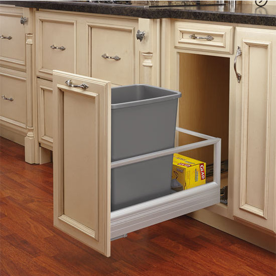 Rev-A-Shelf Single Bin Door Mount Rev-A-Motion Waste Container
