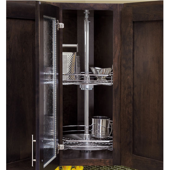 rev a shelf 39 39 premiere independently rotating d shaped 2. Black Bedroom Furniture Sets. Home Design Ideas