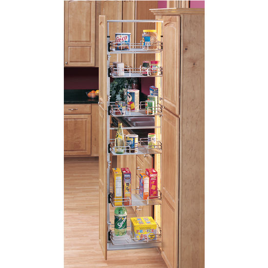 A Shelf 58 15c 5 Chrome Pull Out Basket: Kitchen Pantry, Pantry And Tall Unit Fittings, Storage