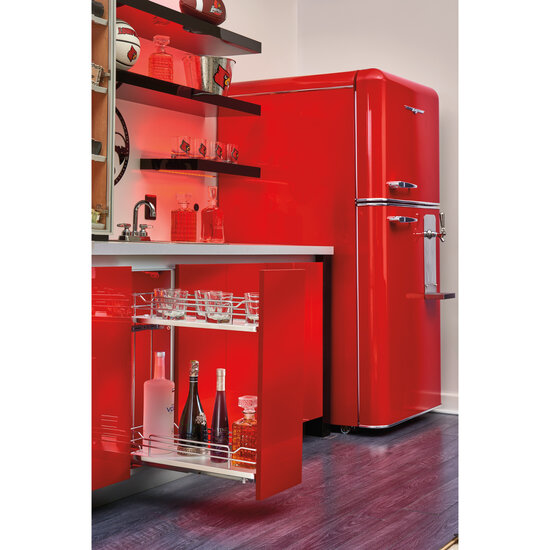 Kitchen Storage Two Tiered Chrome Wire Soft Close Base