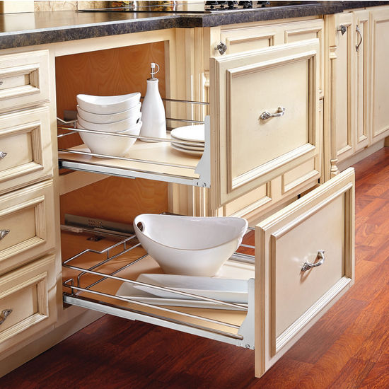 Rev A Shelf Premiere Quot Maple Pullout Basket For Kitchen
