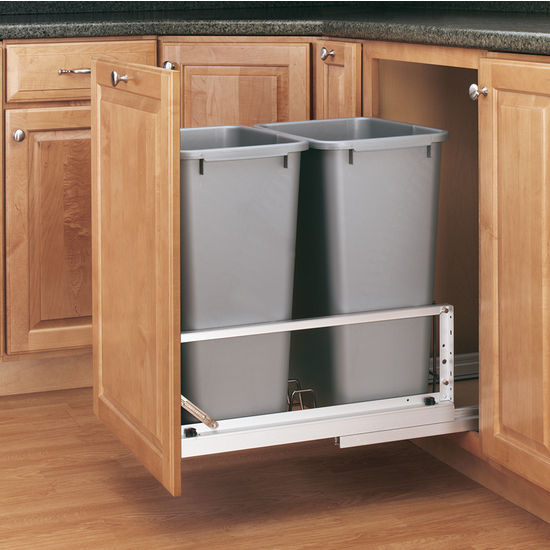 Rev A Shelf Premiere Quot Double Bin Pull Out Waste