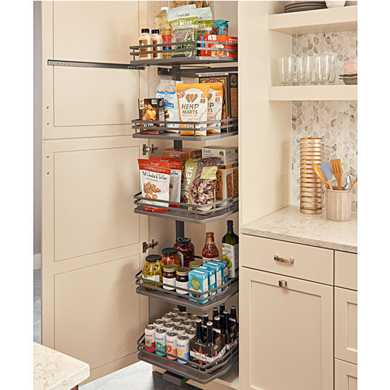 Fog Series Swing Out Pantry With 5 Shelves, Featuring Flat