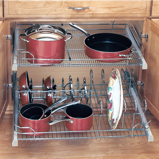 Cabinet organizers kitchen cabinet organizers by hafele for Kitchen cabinet organizers