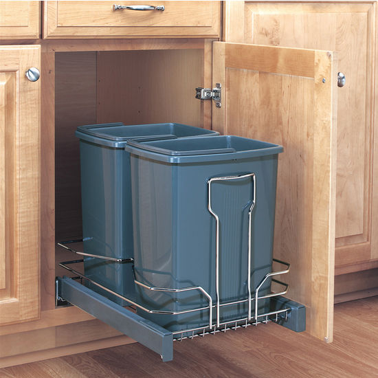 Cabinet Pull Out Garbage Cans For Your Kitchen Bathroom