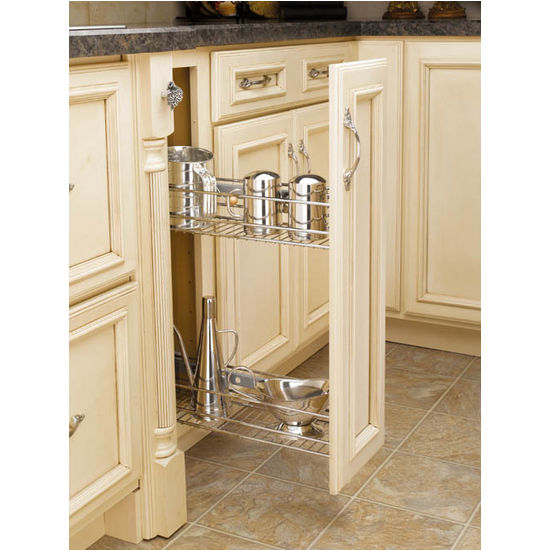 Kitchen Cabinet Pull Out Organizer: Side Mount Kitchen Base Cabinet Pull-Out Organizers By Rev