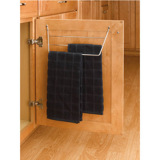 kitchen cabinet door mount towel holders chrome or white