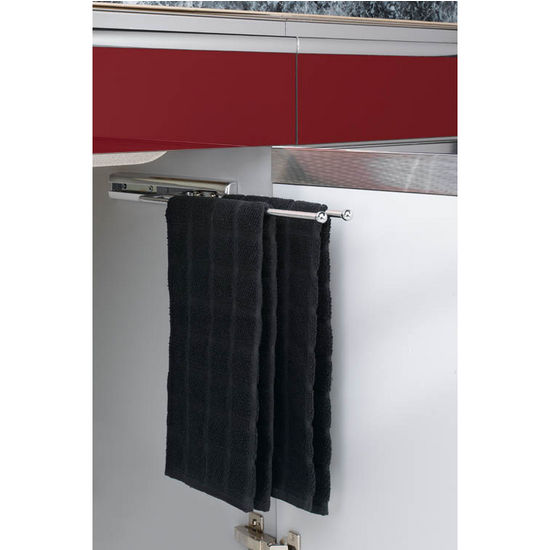 kitchen cabinet 2 prong towel bar easy glide