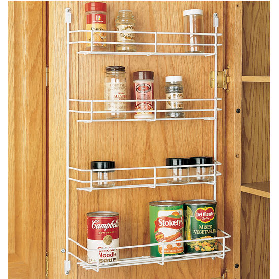 Cabinet Organizers - Kitchen Cabinet Wire Door Mount Spice Rack by ...