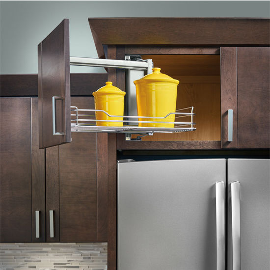 Kitchen Organizers Above Appliance Cabinet Pullout By Rev