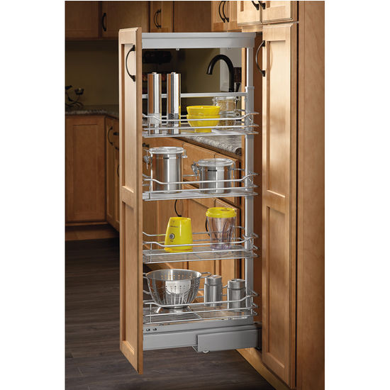 Rev A Shelf Soft Close Chrome Pullout Pantry With Quiet