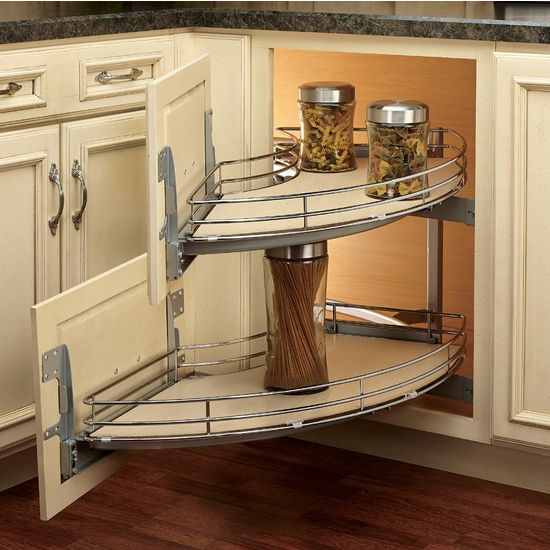 Interior Blind Kitchen Cabinet rev a shelf the curve luxury kitchen blind corner unit with maple 2 tray door mount for blind