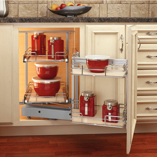 Rev A Shelf 39 39 Premiere Blind Corner Kitchen Cabinet System With