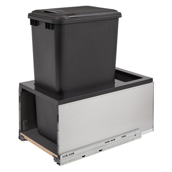 Bottom Mount Single Stainless Steel Legrabox Trash Pullout 30 Quart 7 5 Gallon 35 Quart 8 75 Gallon Or 50 Quart 12 5 Gallon Black Can With