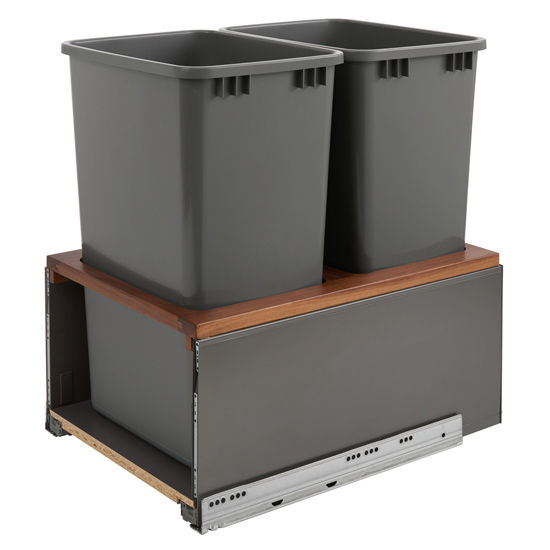 Bottom Mount Double Metal Legrabox Trash Pullout With 35