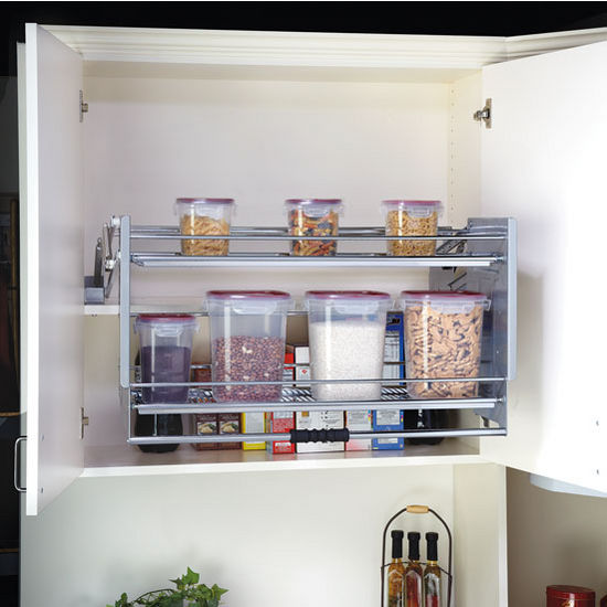 rev a shelf premiere quot pull down shelving system for