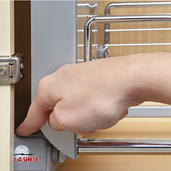 """Pull Down Cabinet System: Rev-A-Shelf ''Premiere"""" Pull-Down Shelving System For"""