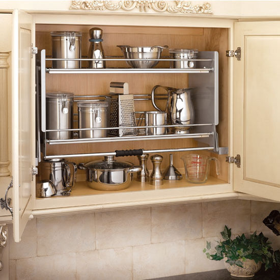 "Shelves For Kitchen Cabinets: Rev-A-Shelf ''Premiere"" Pull-Down Shelving System For"