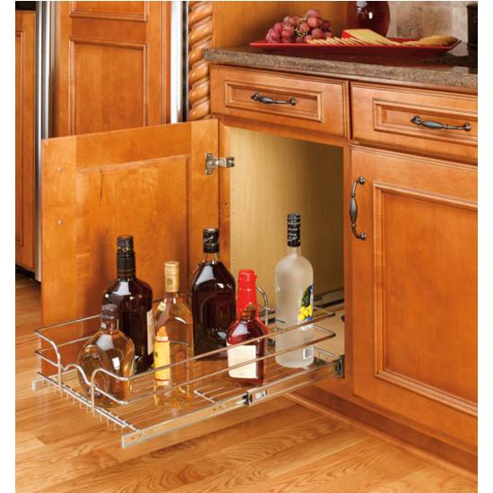 Rev A Shelf Single Kitchen Cabinet Chrome Pull Out Shelves