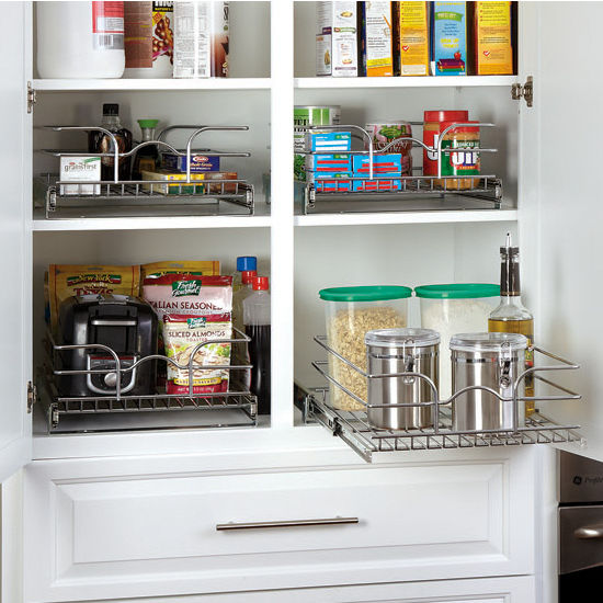 A Shelf 58 15c 5 Chrome Pull Out Basket: Kitchen Cabinet Chrome Pull-Out Wire