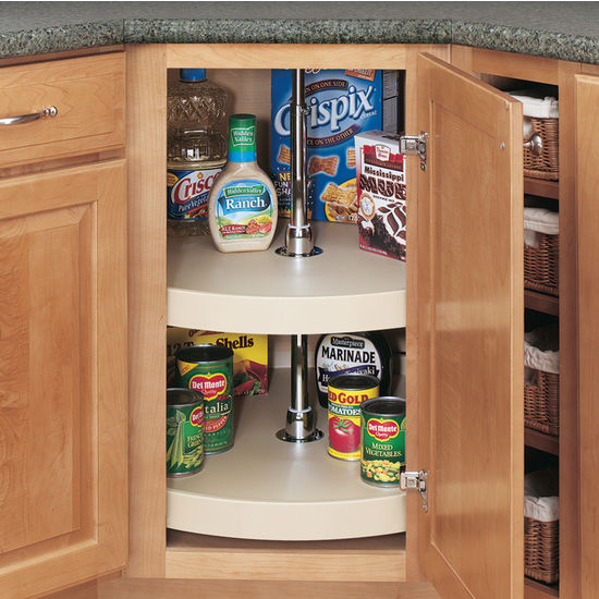 Rev A Shelf 39 39 Traditional Full Circle Independently Rotating 2 Shelf Polymer Lazy Susans For
