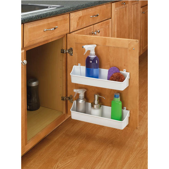 Rev a shelf kitchen cabinet door mounting storage shelf for Kitchen cabinet organizers