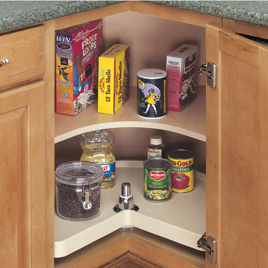 Single Shelf Kidney Shaped Pantry Tray, Post Included