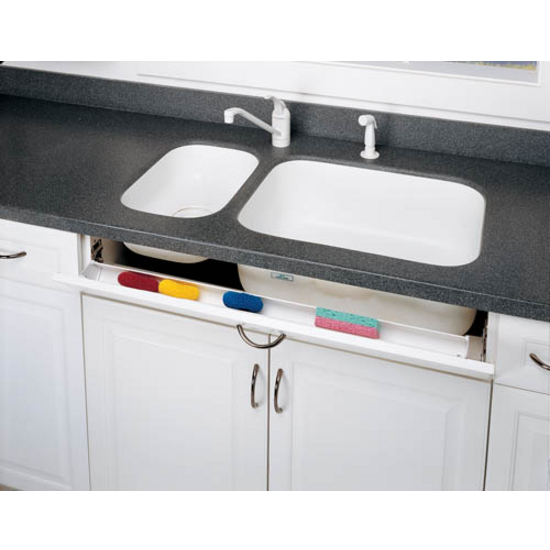 Cabinet-Organizers - Slim Sink Front Tip-Out Trays for Kitchen Sink on vanity cabinet tray, kitchen tilt out tray, pull out sink tray, under sink tray, plastic sink front tray, sink storage tray, sink base tray, euro hinges cabinet organizer tray, kitchen drawer tray,