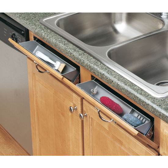 Under Cabinet Drop Down Shelf Hardware: Cabinetstorage.com: 6572 Series Sink Front (Tip-Out) Trays