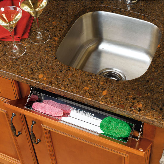 6581 Series Sink Front (Tip-Out) Stainless Steel Trays
