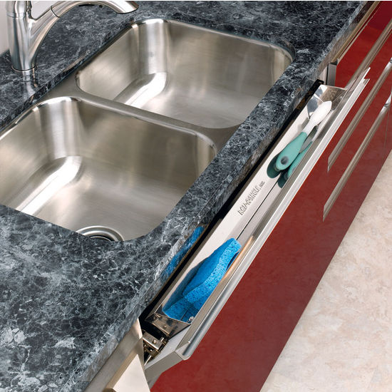Kitchen And Vanity Sink Front Tip Out Stainless Steel