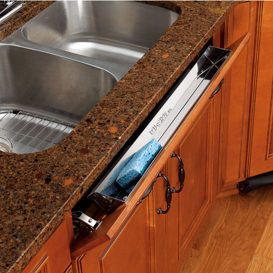 Under Cabinet Drop Down Shelf Hardware: Kitchen And Vanity Sink Front (Tip-Out) Stainless Steel