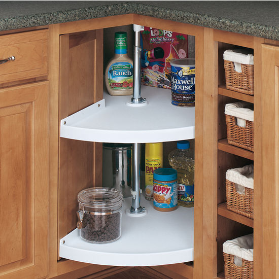 "Rev-A-Shelf ""Traditional"" Door-Mount Pie-Cut 2-Shelf Polymer Lazy"