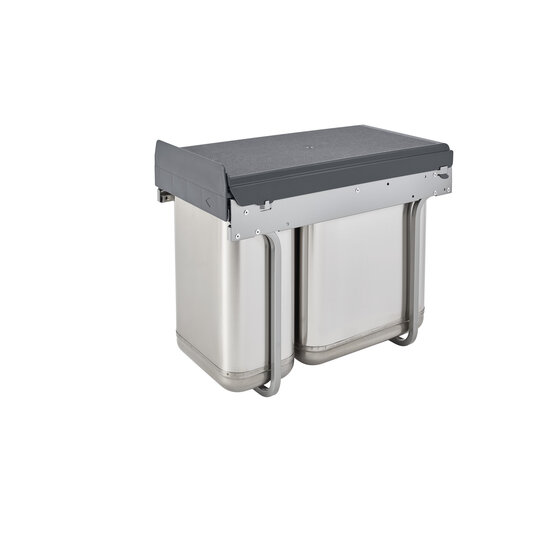 Rev-A-Shelf Stainless Steel Sink Base Pull-Out Waste Containers ...
