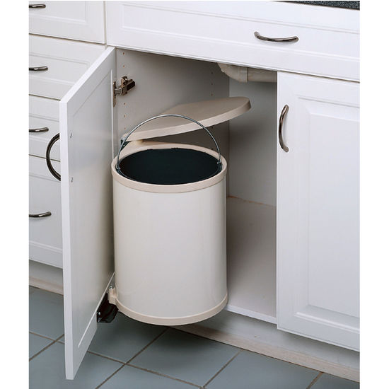 Pullout Builtin Trash Cans Cabi Slide Out Under Sink Rhkitchensource: Kitchen Waste Basket At Home Improvement Advice