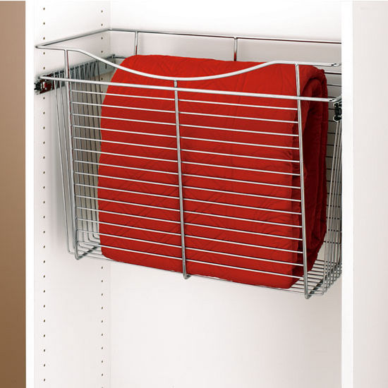 12 Deep Closet Or Kitchen Cabinet Heavy Gauge Pull Out Wire Baskets By Rev A Shelf