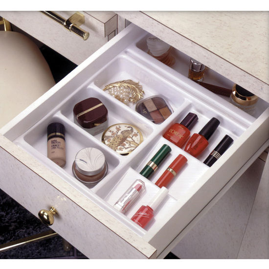 rev a shelf vanity cosmetic drawer organizer base trays. Black Bedroom Furniture Sets. Home Design Ideas