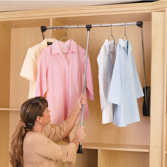Rev A Shelf Pull Down Chrome Closet Rods Kitchensource Com